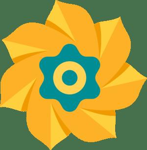 kansas childrens foundation logo pinwheel rotating element