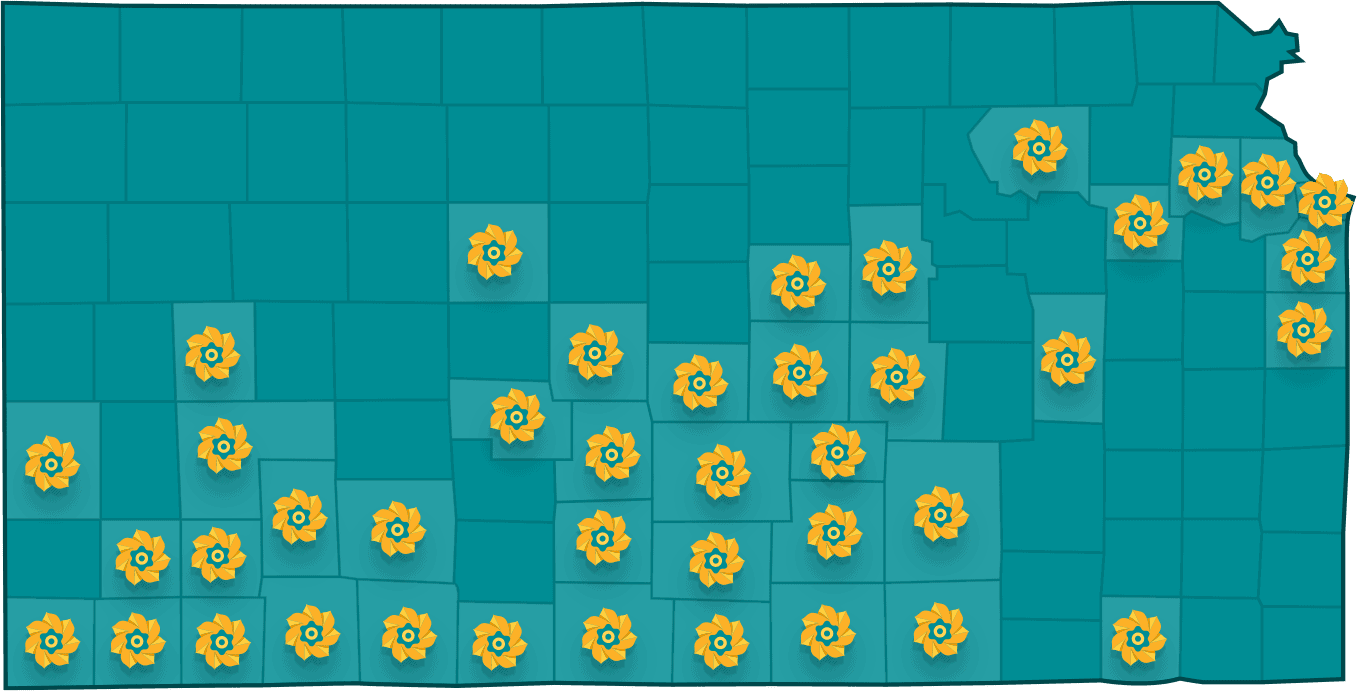 Kcf Sunflower Map 47 Counties